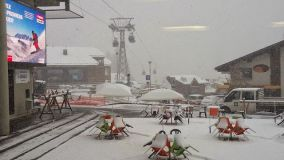 Heavy Snow In The Alps