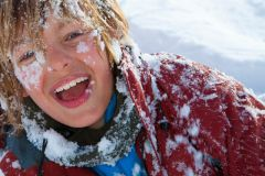 A Free Ski Jacket For Kids in Manigod Ski School