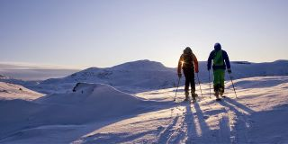 Skiing Under the Midnight Sun Tonight in Sweden