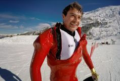British Speed Skier First To 'Live Test' Ski Racing Air Bags
