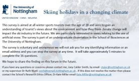 Skiing holidays in a changing climate