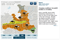 Avalanche Risk - Early Warning for Austria