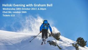 Win a ticket to hear Graham Bell talk about heli-skiing...