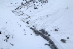 Clearing an avalanche-blocked road - Bessans, France