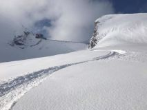 Fresh April Snow on Alpine Glaciers
