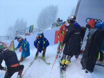 Heavy Snow As Ryding Prepares for Hahnenkamm Slalom