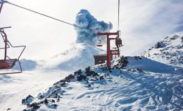 Volcano Erupts Near Ski Resort in Andes