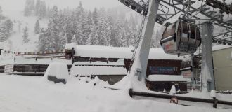 Very Heavy Snowfall in Austrian Alps - 80cm in 24 Hours
