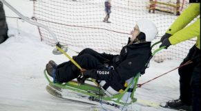 92-year-old Hits the Slopes For First Time