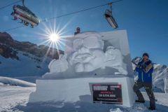 Elton John Recreated In Austrian Snow