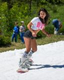 Russians Summer Skiing on 4th of July