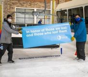 Indoor Snow Centre Sends Up Empty Chair First on Re-Opening day In Honour of Virus Victims