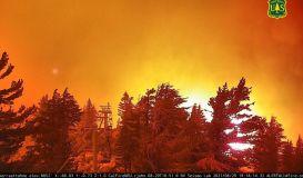 Wildfire Reaches Sierra At Tahoe Ski Resort in California