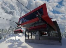 New 8 Seat Chairlift For Sunday River