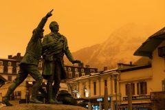 Sirocco brings Sahara to the Alps