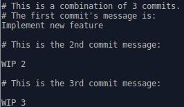 Recap of the interactive rebase process