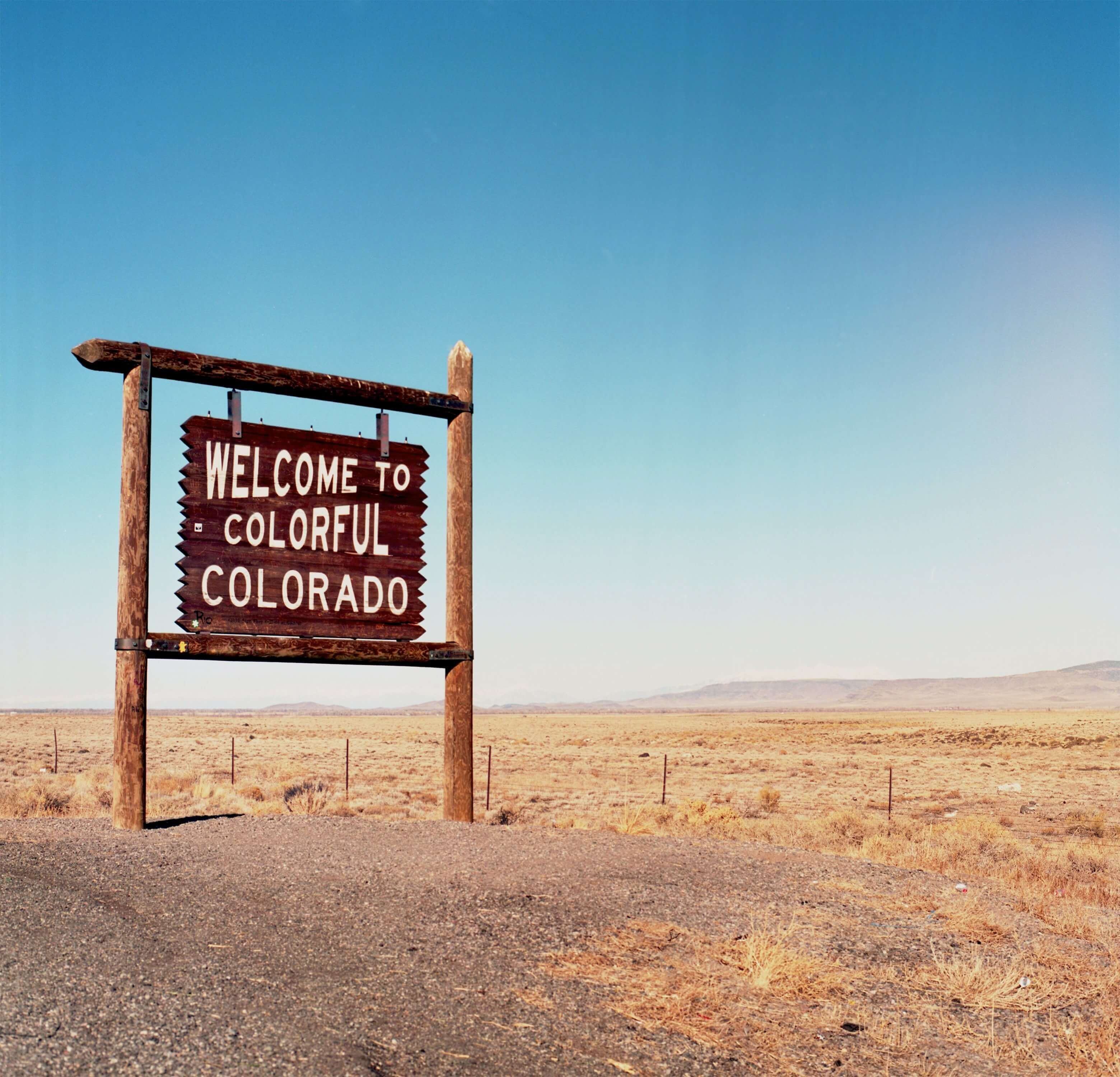 """An image of a """"Welcome to Colorado"""" sign"""