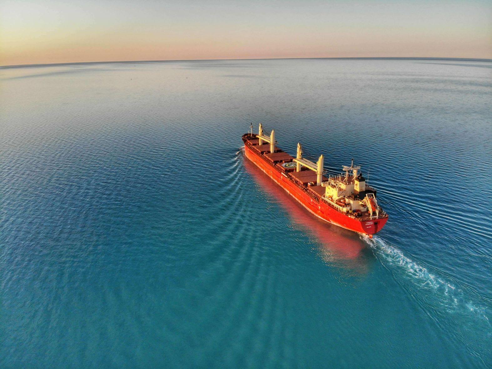 An image of a cargo ship
