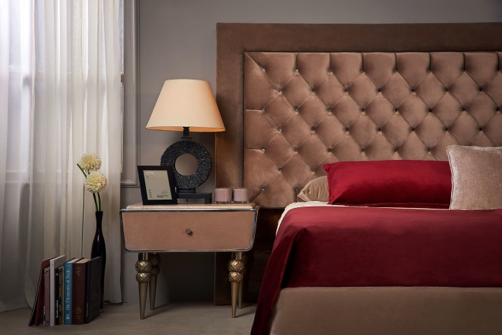 Cropped bed with comode - Richie by Shoulah - Furniture Photography Egypt - Mohamed Abdel-Hady