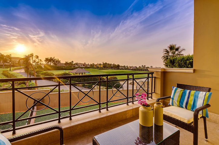 Balcony view sunset - HSI - Katameya heights - Interiors photography Egypt - Mohamed Abdel-Hady