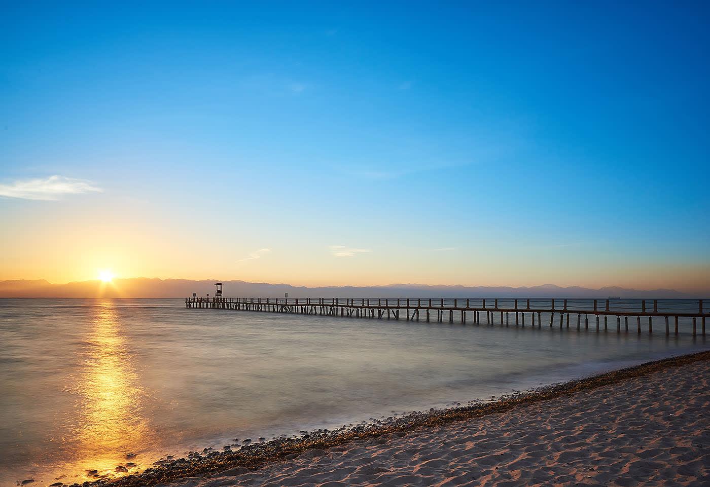 Sofitel Taba heights beach resort jetty at morning - Mohamed Abdel-Hady photography