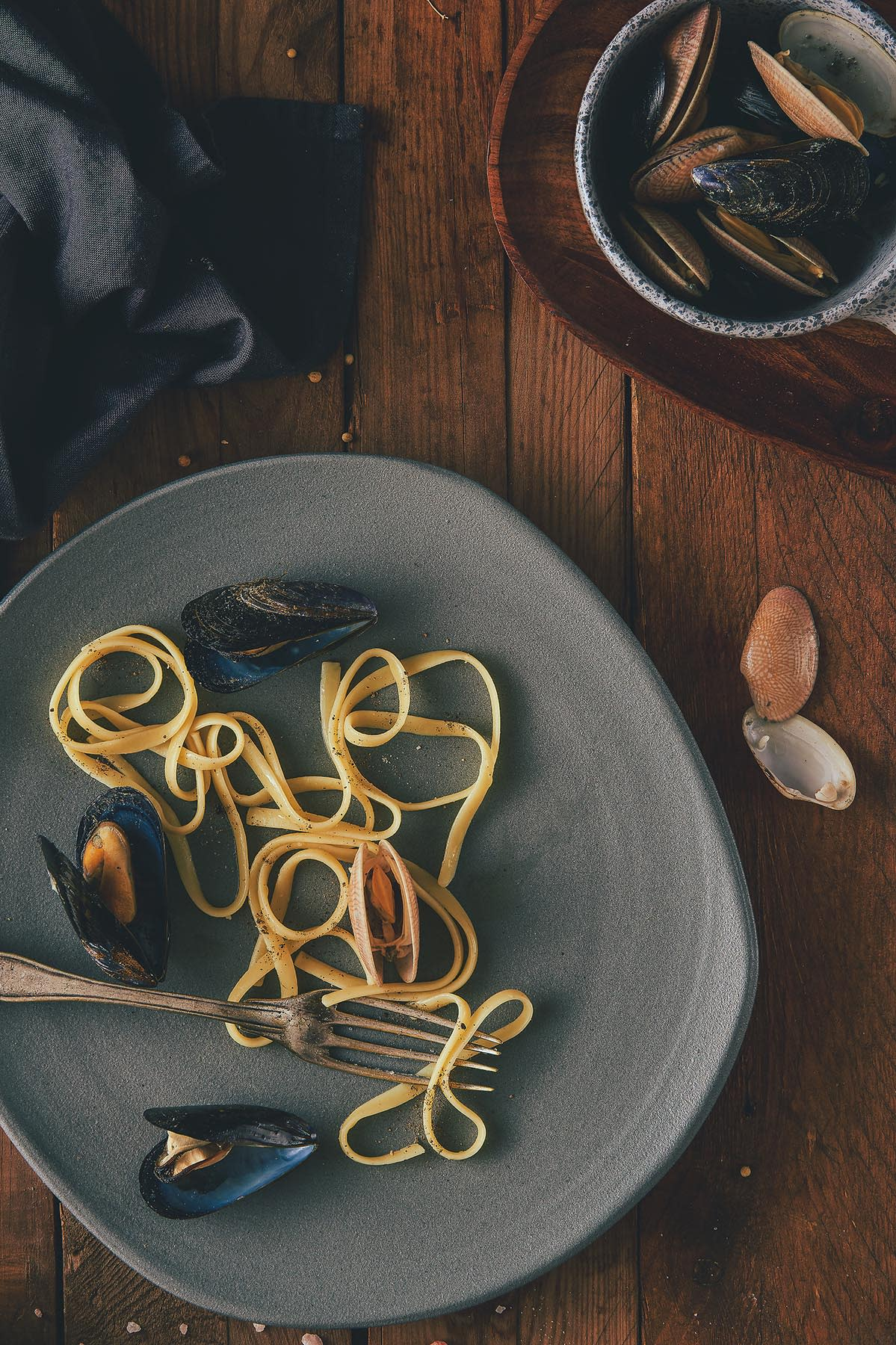 Pasta & Mussels - Food photography - Mohamed Abdel-Hady Photography