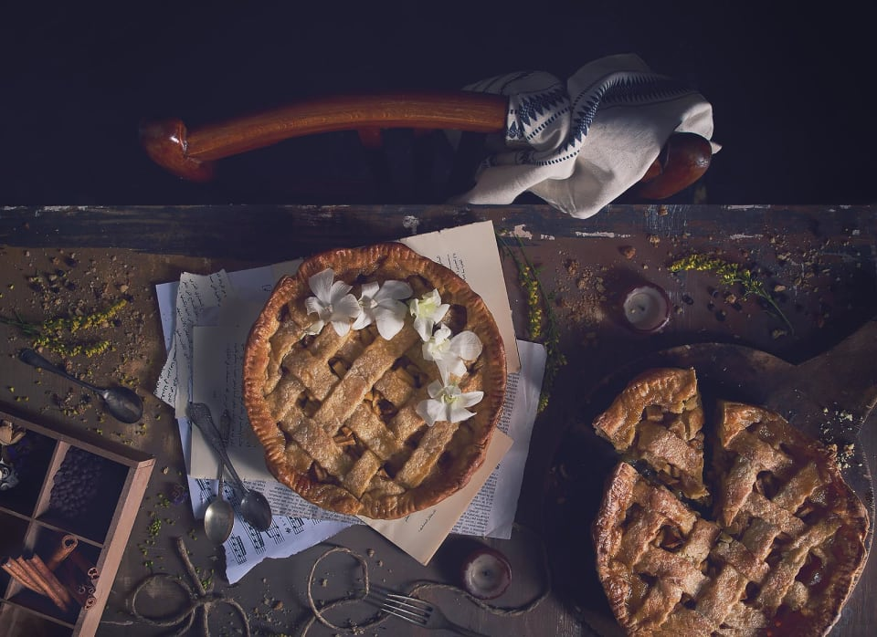Apple pie - food photography personal project