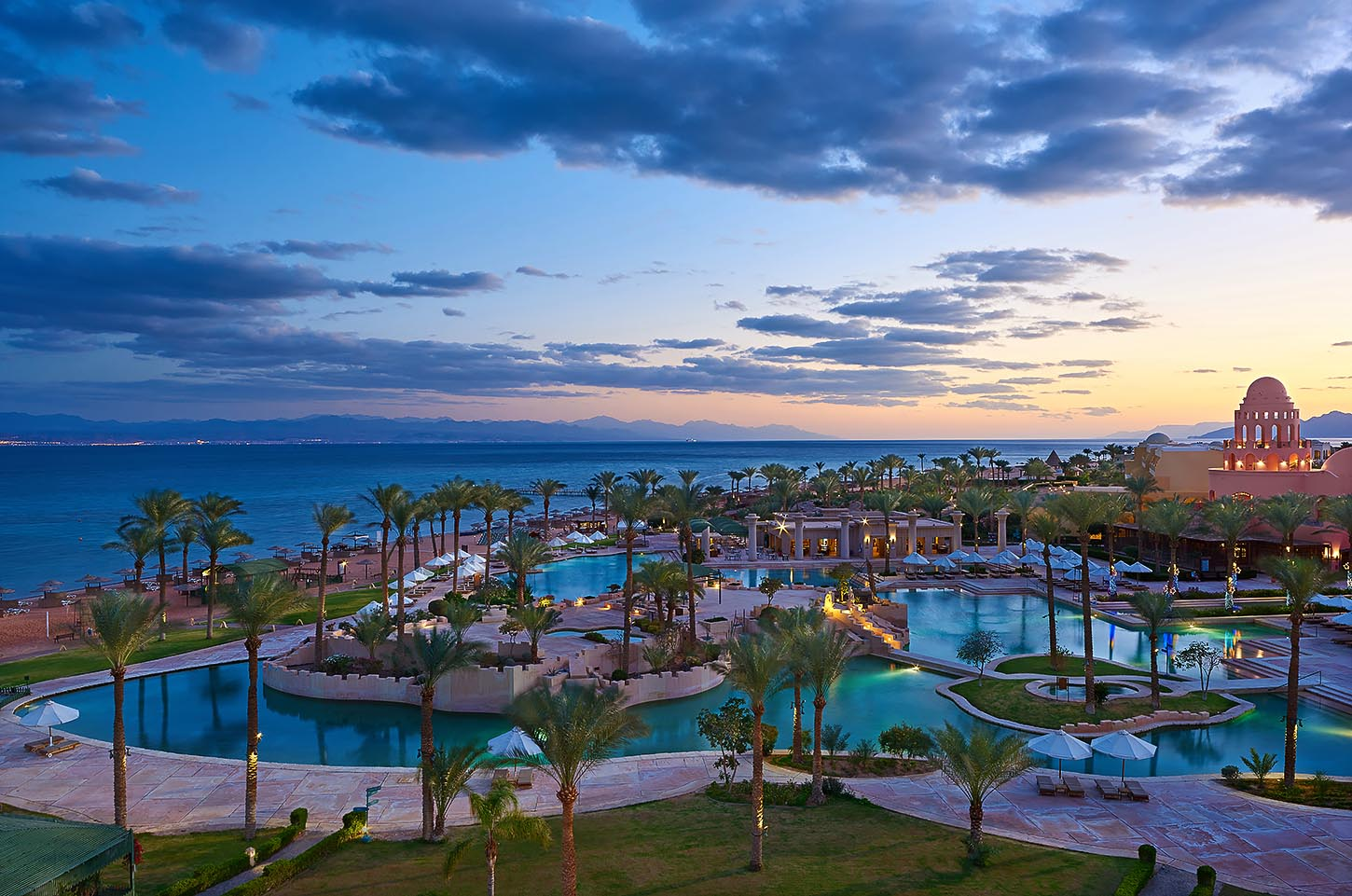 Sofitel Taba heights beach resort overview Blue hour - Mohamed Abdel-Hady photography