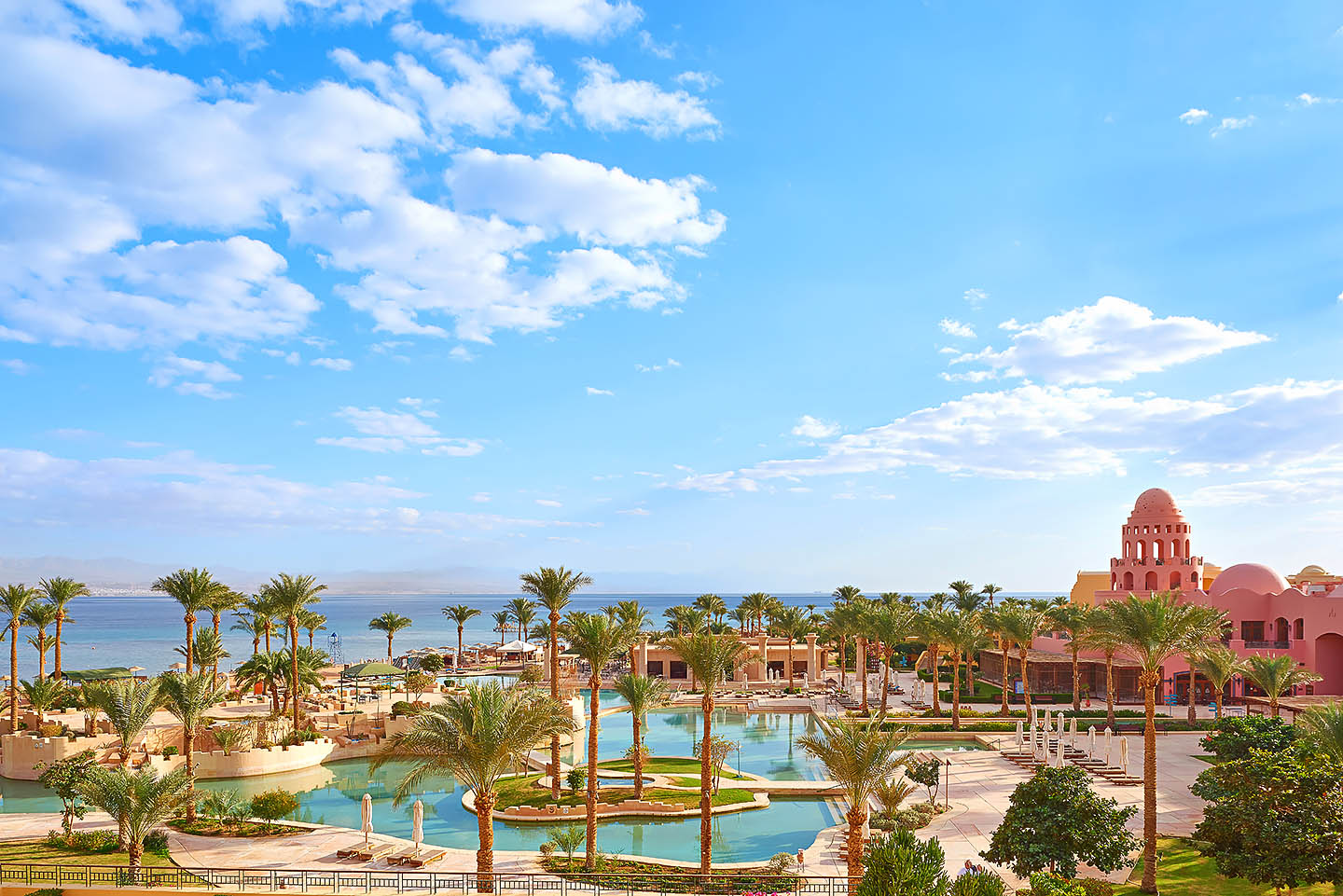 Sofitel Taba Beach resort Hotel Overview at noon