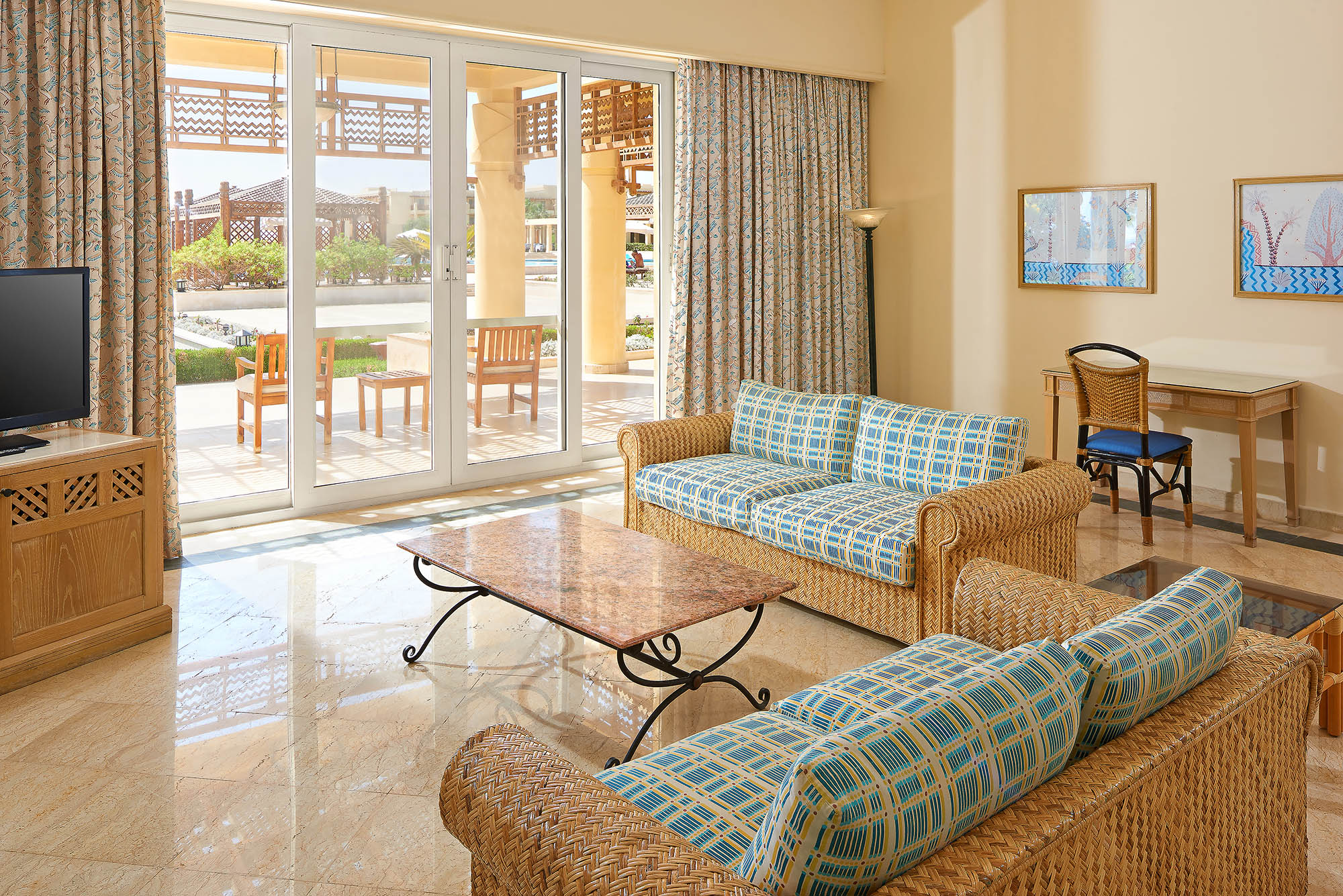 Hospitality photography Egypt - Sheraton Soma Bay - Royal Suite living room
