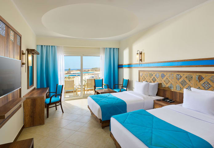 Double bed guestroom - Lazuli Marsa Alam Hotel - Mohamed Abdel-Hady Photography