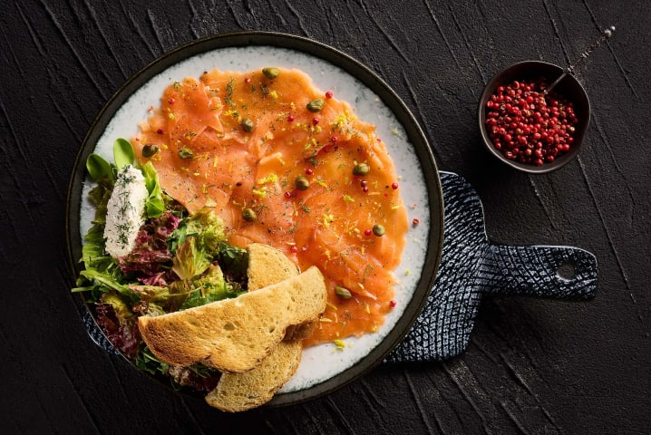 Smoked Salmon - Le Rouge restaurant - Marassi North coast