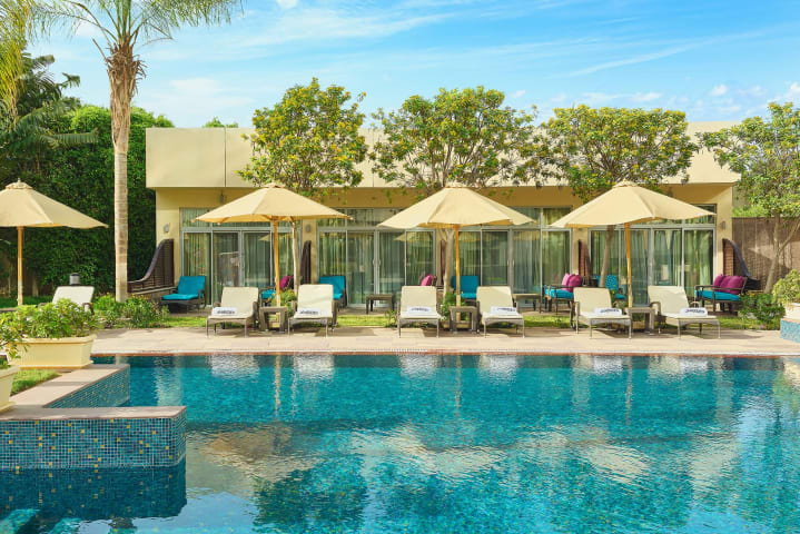 Pool Side Cabanas - Le Meridien Cairo Airport hotel - Hospitality photographer - Egypt - Mohamed Abdel-Hady - April 2021