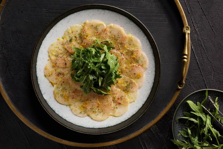 Sea bass carpaccio - Le Rouge Restaurant - Marassi North coast - Commercial food photographer - Egypt - Mohamed Abdel-Hady