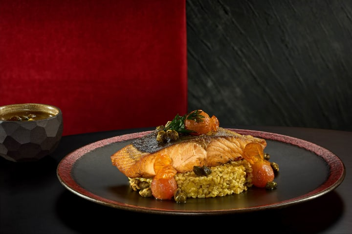 Pan seared Salmon - Le Rouge Restaurant - Marassi North Coast - Commercial food photographer - Egypt - Mohamed Abdel-Hady