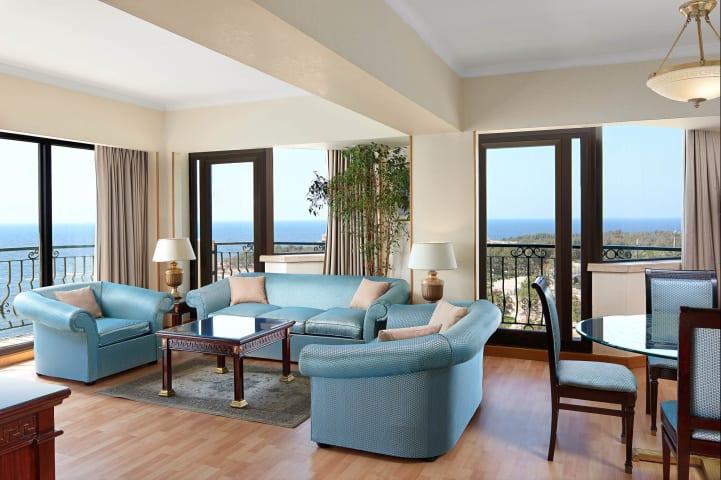 Presidential Suite Living Area - Sheraton Montazah