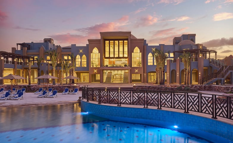 Lazuli Marsa Alam - Building facade with pool - bluehour - Mohamed Abdel-Hady Photography