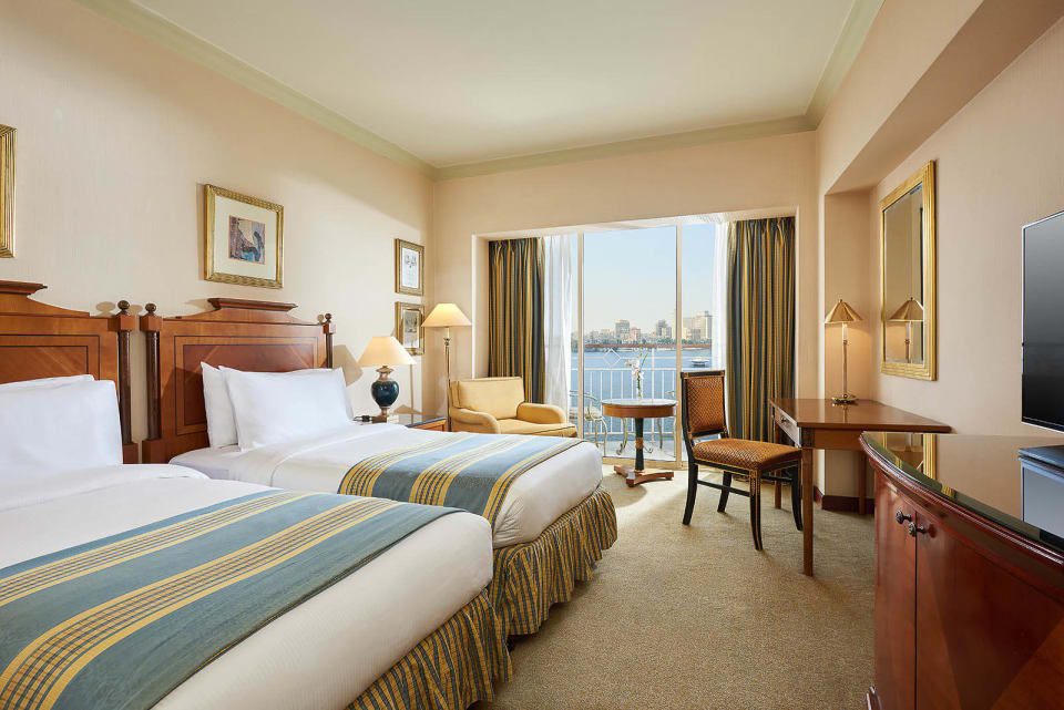 Twin Guest room - Grand Nile Tower Hotel - Cairo, Egypt.