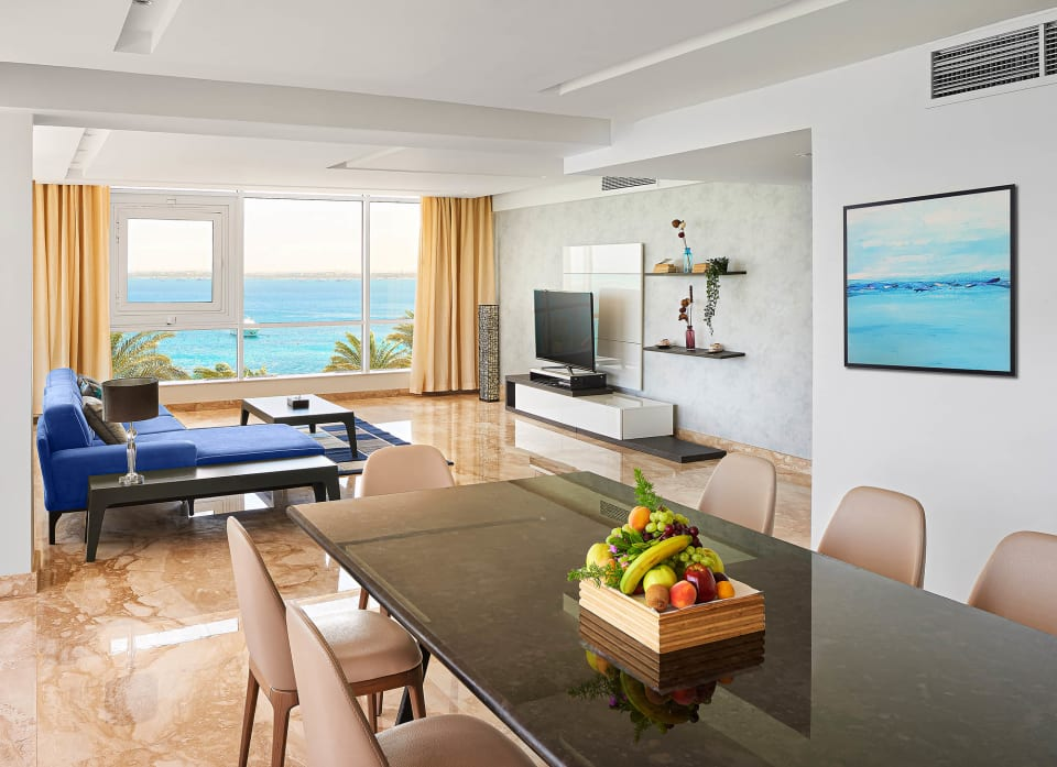 Apollo Suite - Wide living room shot - Marriott Hurghada Beach Resort