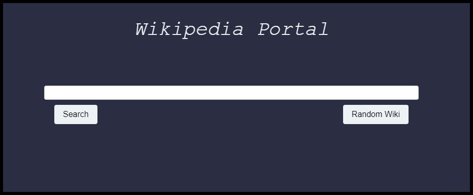 Wikipedia Portal