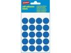 Etikett STAPLES manuell ø19mm blå (100)
