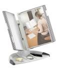Bordstativ Tarifold T-office grå lommer