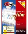 Transparent skrivefilmblokk 57177  Dataline m/bakark