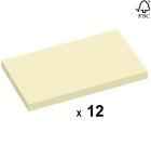 Notatblokk STAPLES 76x127mm Resirkulert Gul (12)