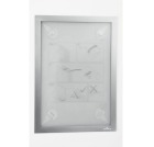 Magnetramme DURAFRAME Wallpaper A4 Sølv