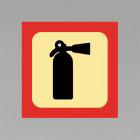 Skilt Brannslukningsapparat m/ magnet 20x20cm