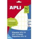 Etikett APLI manuell 12x18mm hvit (560)