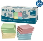 Notatblokk INFO 75x75 resirkulert Assorterte farger (12)