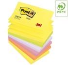 POST-IT® Z-Note 76x127mm R350 Neon assortert farger (6)