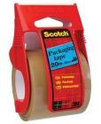 Emballasjetape SCOTCH® 50mm x 20m Brun m/dispenser